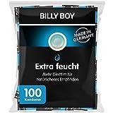 Billy Boy Extra Feucht Kondome mit Mehr Gleitfilm Premium Großpackung , Transparent, 100er Pack