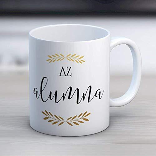 N\A DZ Delta Zeta Alumna Mug Sorority Taza de café