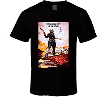 Mad MaxCool 70 s Vintage Classic Action Movie Poster Fan T Shirt L Black