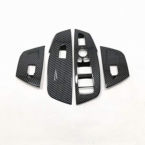 gipoiSD Cubierta de Interruptor de Control de elevación de Vidrio para Puerta y Ventana, Estilo de Coche, para BMW X3 G01 X4 G02 2018 2019