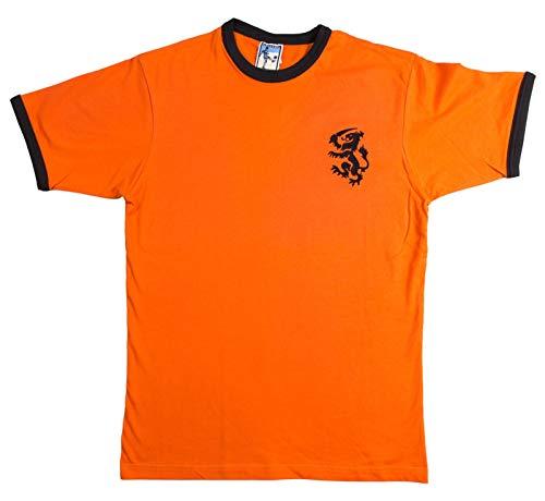 Holland Holanda Holanda 1974 - Camiseta de fútbol con logotipo bordado, naranja y negro, XXL