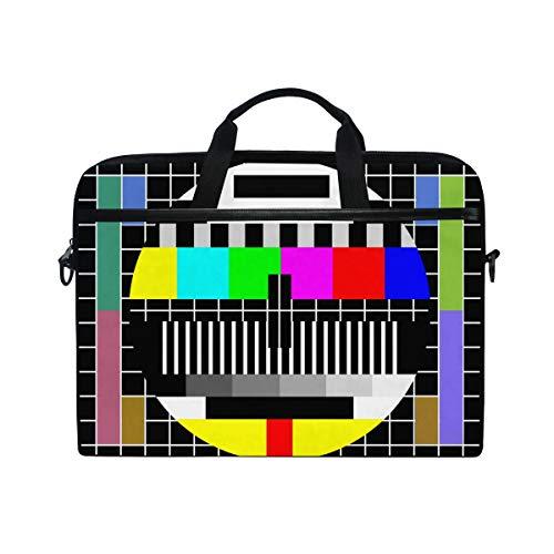 Ahomy Laptoptasche, 35,6 cm (14 Zoll) Laptoptasche, Test-TV-Bildschirm, Leinenstoff, Laptoptasche, Business-Handtasche mit Schultergurt für Damen und Herren