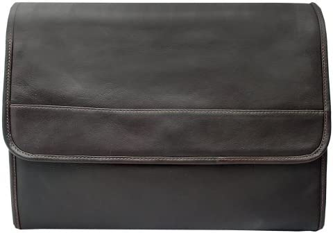 Piel Leather Envelope Portfolio Chocolate One Size product image