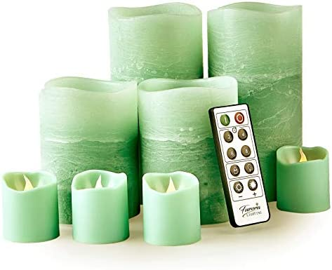 Furora LIGHTING LED Flameless Candles with Remote Control Set of 8 Real Wax Battery Operated product image