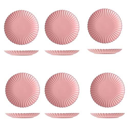 Platos de vajilla de cocina Platos de cena 6 piezas Platos de cena de cerámica de 10 pulgadas The Postre Ensalada Filete Pasta y Aperitivo Platos para servir.Platos para servir aptos para horno micro
