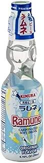 Kimura Ramune Carbonated Soft Drink Original Flavor 6.76 Fl Oz   Case of 18
