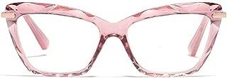 ZEVONDA Women Glasses - Cat Eye Crystal Frame Classic Clear Lenses Fashion Accessories Glasses Ladies Non Prescription Retro Lightweight Eyewear