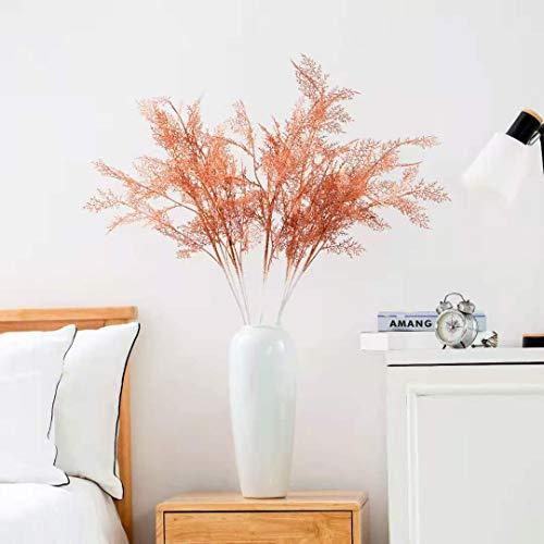 LACKINGONE 5 flores artificiales de 39.5 pulgadas para decoración del hogar, ramas de flores artificiales de hielo (naranja)