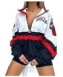 FDRYA Bulls Baloncesto Pullover con Capucha para Mujeres, Sudadera de Baloncesto Abrigo fanáticos de Uniforme Camisetas de Entrenamiento para Casos Informales, camionetas White1-S