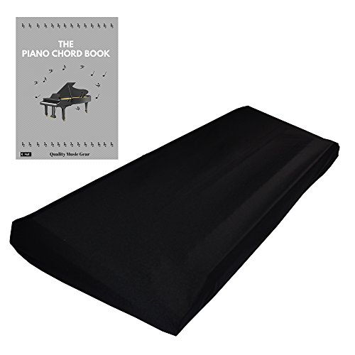 "Stretchable Keyboard Dust Cover for 61 & 76 Key-keyboard: Best for all Digital Pianos & Consoles – Adjustable Elastic Cord; Machine Washable – FREE Piano Chords Ebook – 41""×16""×6""."