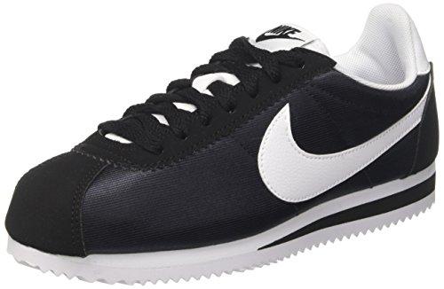 Nike Classic Cortez 15 Nylon, Zapatillas para Mujer, Negro (Black/White-Black 007), 37.5 EU