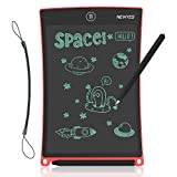 NEWYES 8.5 Inches LCD Writing Tablet with Lock Function Office Whiteboard Bulletin Board Kitchen Memo Notice Fridge Board Magnetic Daily Planner Gifts for Kids (Red+Lanyard)