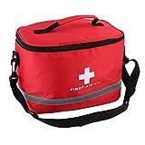 Símbolo de cruz llamativa de nailon rojo de alta densidad Ripstop deportes camping hogar emergencia médica kit de primeros auxilios bolsa al aire libre