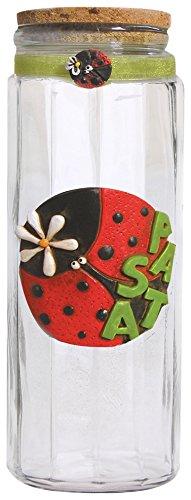Paolo Clear Ladybird plakken medium, glazen deur/marmoresina/kurk/Organza, meerkleurig, 10 x 10 x 30 cm 8 eenheden