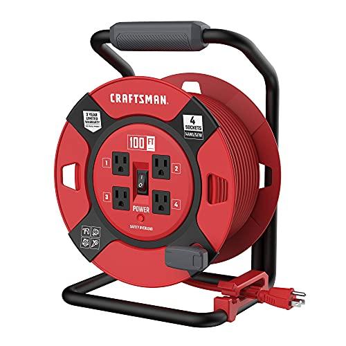 Craftsman CMXCRPA14100 Retractable Extension Cord, Red