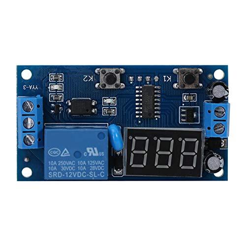 Cuque Módulo de Temporizador, módulo de Interruptor de Encendido/Apagado de retardo de Alta precisión Duradero, 50 mA Estable para Equipos de Funcionamiento del Temporizador de Circuito de