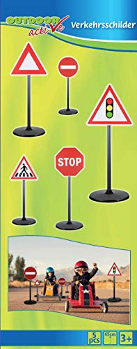Outdoor active Verkehrsschilder, 5-teilig, Höhe 65 cm