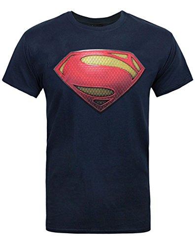 Official Superman Man of Steel Textured Men's T-Shirt (S)