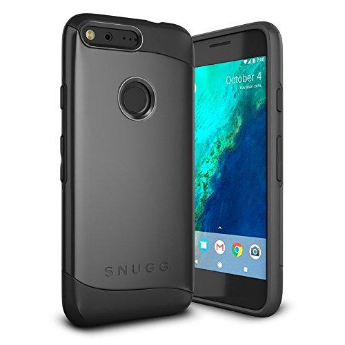 Google Pixel Hülle, Google Pixel Stoßfeste Schutzhülle Hülle Tasche [Infinity Series] Schützende Hardcase - Schwarz