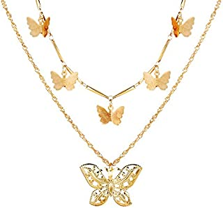 Modyle Bohemian Cute Butterfly Choker Necklace for Women Gold Silver Color Clavicle Chain 2020 Fashion Female Choker Jewelry