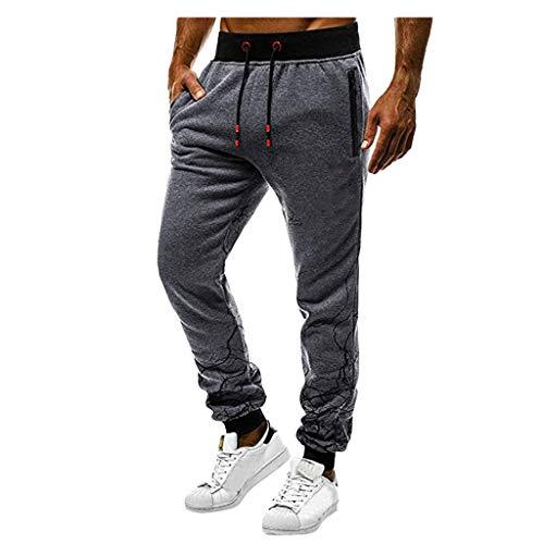 Pantalon Multi-Poches avec Poches,Homme Pantalon Jogging Bas de Survêtement Sweat Pants Sarouel Sport Slim Fit Pantalons Casual Pantalons De Sport Slim Jogging Running Pantalon DéContracté Mode
