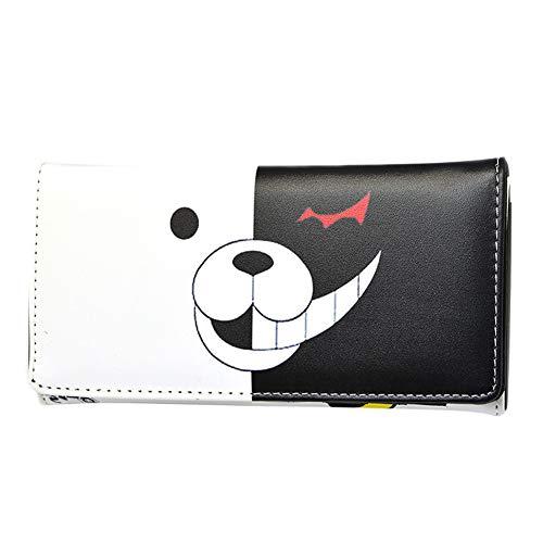 ALTcompluser Anime Danganronpa Brieftasche Langer Geldbeutel/Geldbörse für Herren und Damen, Portemonnaie Wallet(19 × 10 × 3 cm Monokuma 2)