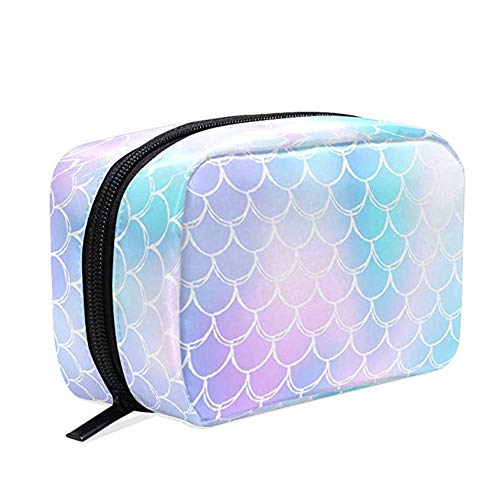 Mermaid Scales Cosmetic Bag School Pencil Cases Travel Toiletry Bags Galaxy Unicorn Fish Tail Makeup Box Storage Bags Organizer Holder forKids Women Girls Outdoor