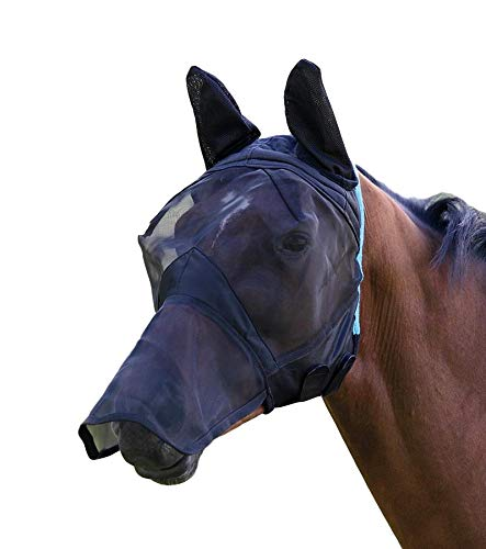 Shires Zeb-Tek Pony/Paard Vliegmasker - Zebra Print