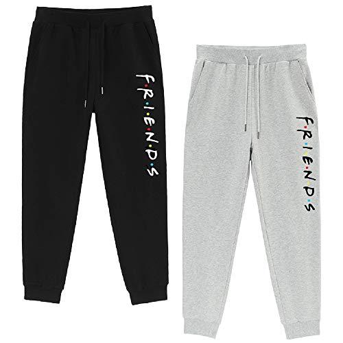 Pantalon de Jogging Training Femmes Cotton Pantalon de Sport Running Yoga Fitness Leggings Une pièce