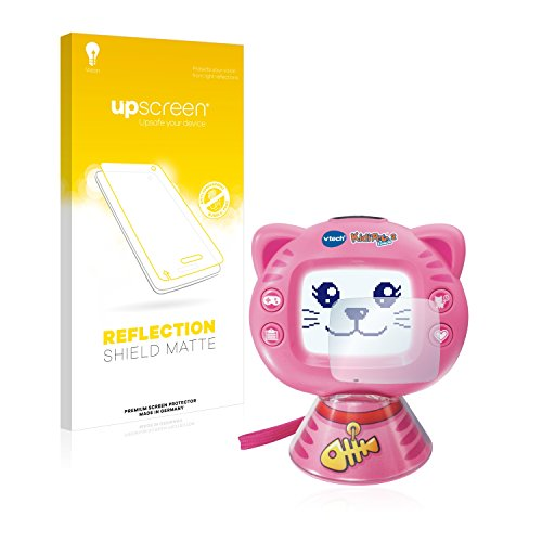upscreen Entspiegelungs-Schutzfolie kompatibel mit Vtech KidiPet Touch 2 (Katze) – Anti-Reflex Displayschutz-Folie Matt