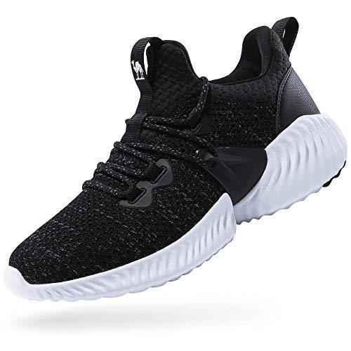 CAMEL CROWN Damen Laufschuhe Turnschuhe Atmungsaktiv Fashion Sportschuhe Running Fitness Trainers Sneakers Verschleißfeste Stoßdämpfung Wanderschuhe 3D Mesh
