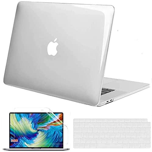 GVTECH Per MacBook Air Custodia Crystal Clear da 13 pollici A2337 M1 A2179 A1932, guscio rigido in plastica e copertura della tastiera e protezione dello schermo compatibile con MacBook Air 13