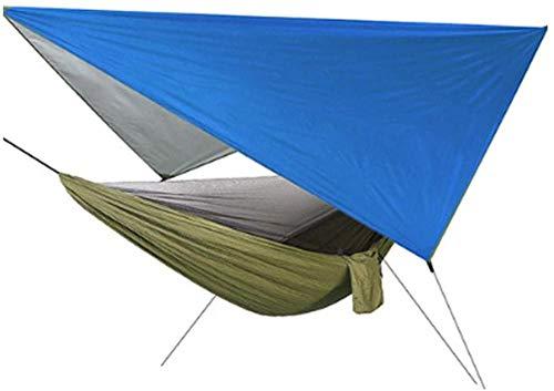 YSCYLY Hamac Pliable Voyage,Écran Sky Speed moustiquaire Ouvert,Hamac en Parachute de Soie - Confortable et Super léger