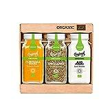Regional Co. – Pack Orgánico de 3 Condimentos Superfood: Orégano, Ajo y Cúrcuma. Sin Conservantes ni Colorantes, 205 g