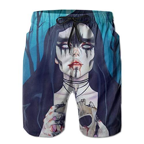 remmber me Forest Trees Goth Gotik Gothic Frauen M?dchen Sch?del Jungen Big & Tall Cargo Kurze Halbe Hosen Essentials Sportwear Quick Dry XL