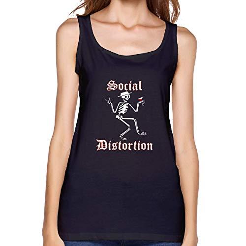 BQJ Apparel Sleeveless T Shirts for Women, Social Come Distortion Workout Tank Tops Sleeve Shirt for Sport Running Yoga