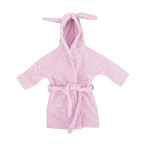 Leela Cotton Baby/Kinder Bademantel Rosa aus Bio-Baumwolle Gr. 98/104