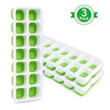 Adoric Ice Cube Trays 3 Pack, Easy-Release Silicone and Flexible 14-Ice Trays with Removable Lid,...