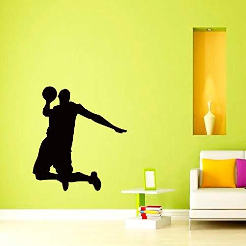 Tianpengyuanshuai Basketbal spel cool mannen speler silhouet muur stickers familie sport spel serie moderne stijl decoratieve vinyl muurstickers