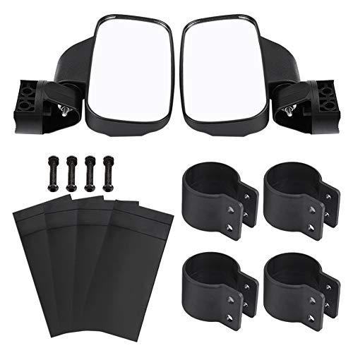 Specchietto retrovisore laterale moto, 1 paio Specchietto retrovisore regolabile moto Specchio laterale vista posteriore per Polaris Ranger/RZR, per Yamaha Rhino, per Gator, per Kawasaki, per Can-Am M