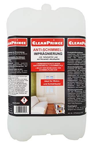 Anti Schimmel Imprägnierung 5 Liter | Schimmelschutz für tapezierte und gestrichene Wände und Kältebrücken von Cleanprince