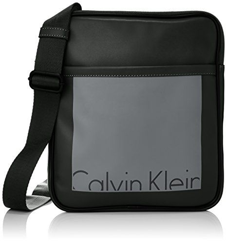 Calvin Klein tracolla uomo K5K500748 Cruise Flat Crossover Nero Cruise Flat Crossover, Bandolera para Hombre, Black/Castlerock 910, OneSize