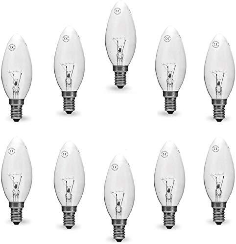AcornSolution , Klare Kerze Kleine Edison Schraubkappe,die Glühbirne,C35,E14,25W,240V-10Pack