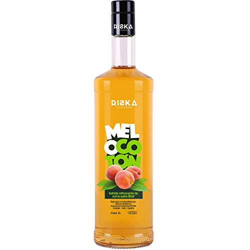 RISKA - Melocoton Licor sin alcohol 1 Litro