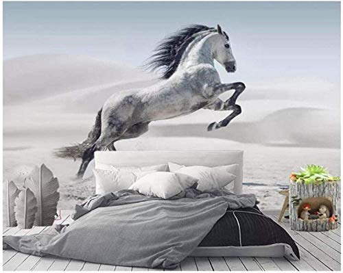 ZZXIAO Fototapete-3D Stereo Animal Chasing Dream-Horse Wandbild Tapete-Wohnzimmer Schlafzimmer Tapete-Seide wandpapier fototapete 3d effekt tapete Wohnzimmer Schlafzimmer Hintergrundbild-350cm×256cm