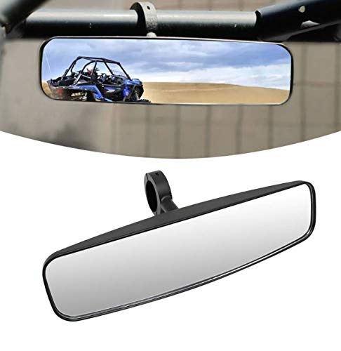"MZS UTV Rear View Mirror - 15"" Wide Rearview Center Convex Mirrors Universal 1.75"" Clamp Compatible with RZR 800 900 1000 Turbo PRO XP Pioneer Wildcat Mule"