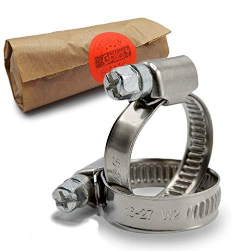 CHILO ® Schlauchschellen 10 Stück 16-27mm - stark - Rohrschellen Schellen universell Schlauchklemmen für Gartenschlauch, Waschmaschine, Aquarium