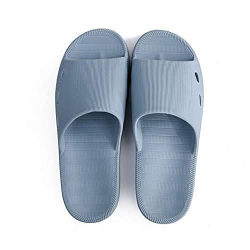ZZLHHD Ciabatte per Massaggio ai Piedi,Slip Massage Slippers, Soft Bottom Comfortable couple-35-37_Blue Gray,Sandali per Massaggio con Digitopressione