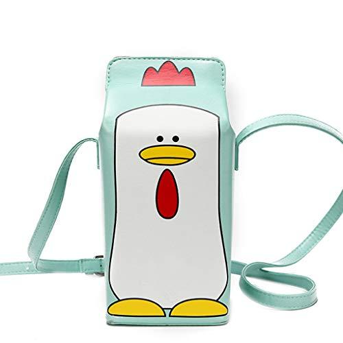 PTMD Creative Cute Milk Box Crossbody Satchel Cellphone Phone Wallet Pouch Shoulder Bags for Girls Women