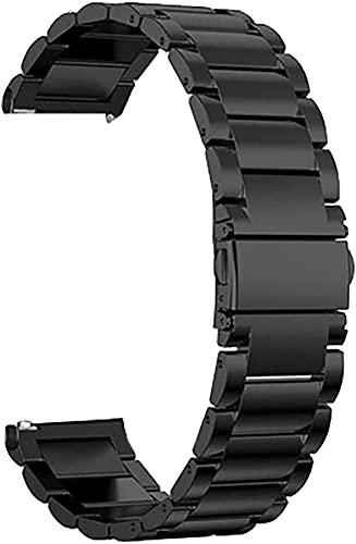 chenghuax Correa de Reloj, Correa de Acero Inoxidable de Metal Relación rápida 18 mm 20 mm 22 mm Reloj Inteligente Correa de reemplazo Unisex (Color : Black, Size : 22mm)